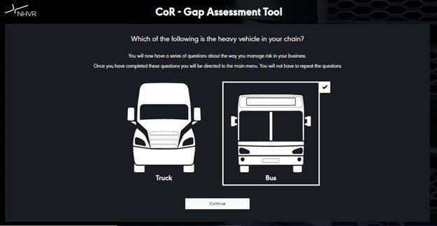 NHVR Gap Tool